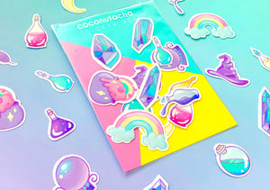 Die Cut Magical Sticker Set