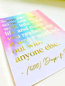 Love Quote with Real Foil Art Print