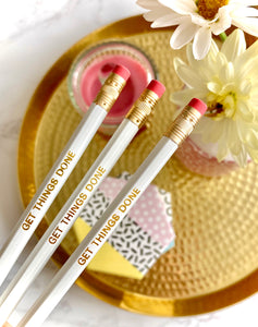 Gold Foil Pencil Set