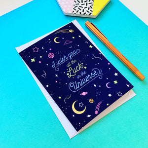 All the Luck in the Universe Greeting Card