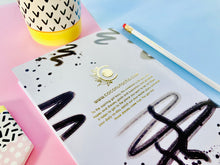 Load image into Gallery viewer, Gold Foil Dot Grid Notebook