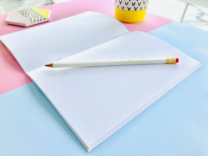 Gold Foil Dot Grid Notebook