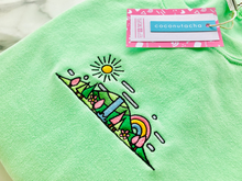 Load image into Gallery viewer, Mint Spring Skyline Sweater