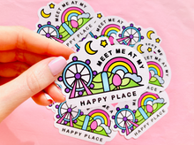 Load image into Gallery viewer, Meet me at my Happy Place Kawaii Sticker