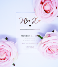 Load image into Gallery viewer, Holographic Wedding Invitation/Save the Date