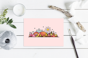 Autumn Skyline Wall Art Print