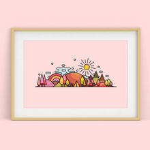 Load image into Gallery viewer, Autumn Skyline Wall Art Print