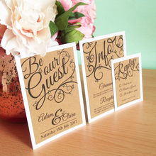 Load image into Gallery viewer, Be Our Guest Kraft Wedding Invitation Set