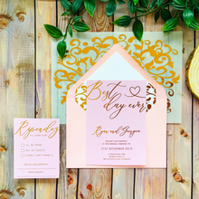 Load image into Gallery viewer, Best Day Ever Wedding Invitation Set