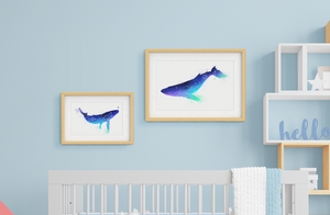 Mother and Baby Whale Prints