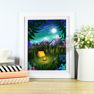 Magical Camping Art Print