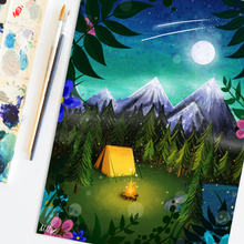 Load image into Gallery viewer, Magical Camping Art Print