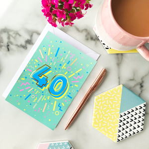 40th Birthday Foil Greeting Card