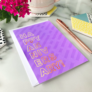 Happy Anniversary Foil Greeting Card
