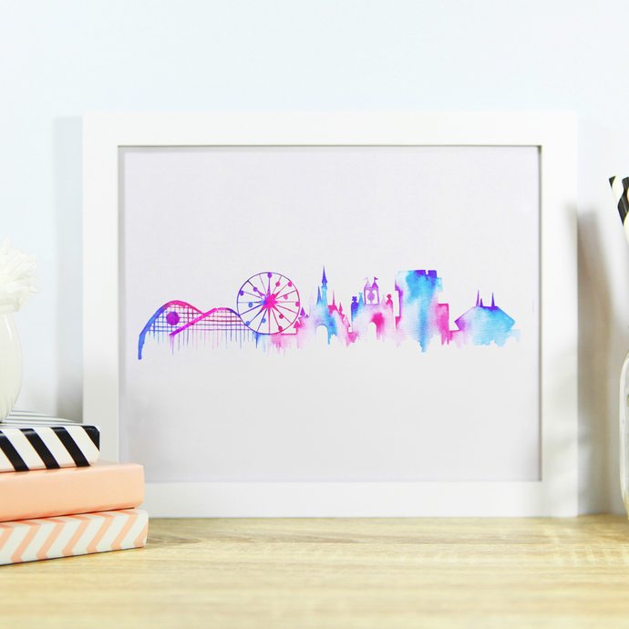 California Park Skyline Wall Art Print