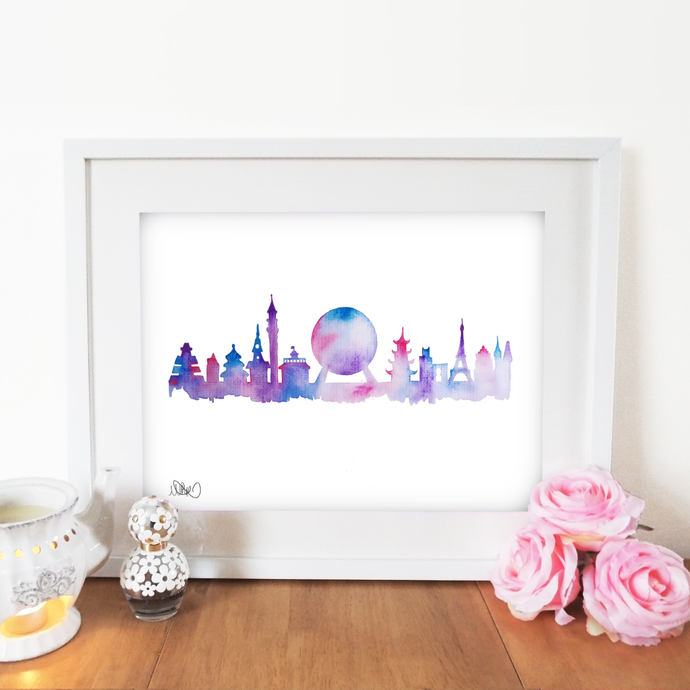 Future Skyline Wall Art Print