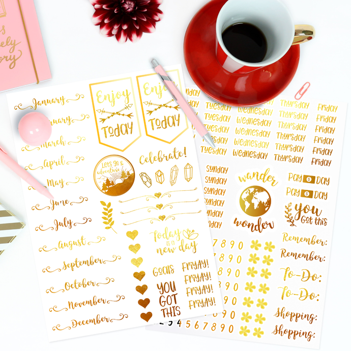 Real Foil Planner Stickers