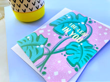 Load image into Gallery viewer, I Be-Leaf in You Foil Greeting Card