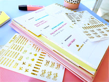 Load image into Gallery viewer, Gold Foil Planner Sticker Set