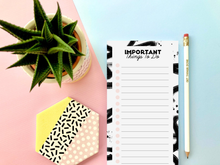 Load image into Gallery viewer, Pink and Black Girl Boss To Do List