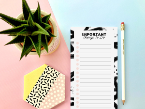 Pink and Black Girl Boss To Do List