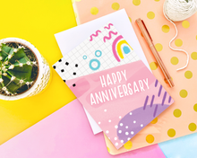 Load image into Gallery viewer, Happy Anniversary Memphis Card