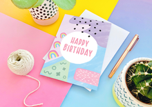 Load image into Gallery viewer, Happy Birthday Memphis Card