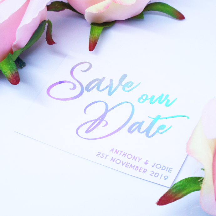 Foiled Save our Date Cards