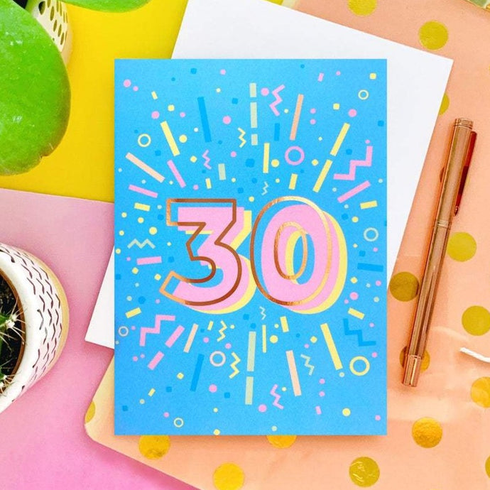 30th Birthday Foil Greeting Card