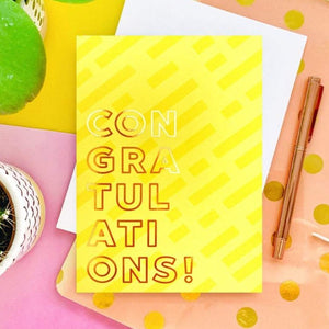 Congratulations Foil Greeting Card