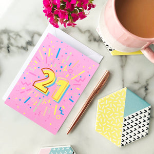 21st Birthday Foil Greeting Card