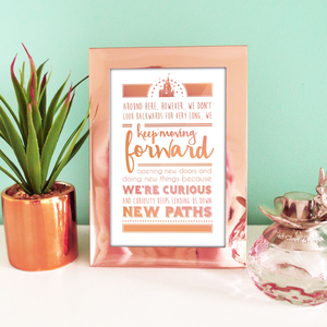 Keep Moving Forward Art Print