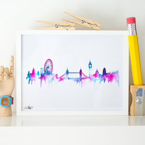London Skyline Wall Art Print