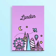 Load image into Gallery viewer, London Skyline Art Print
