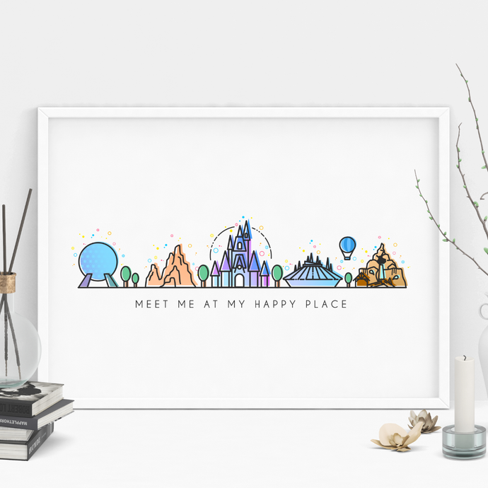 Meet me at my Happy Place Print