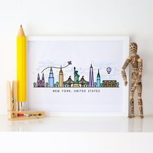Load image into Gallery viewer, New York Skyline Wall Art Print