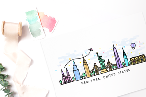 New York Skyline Wall Art Print