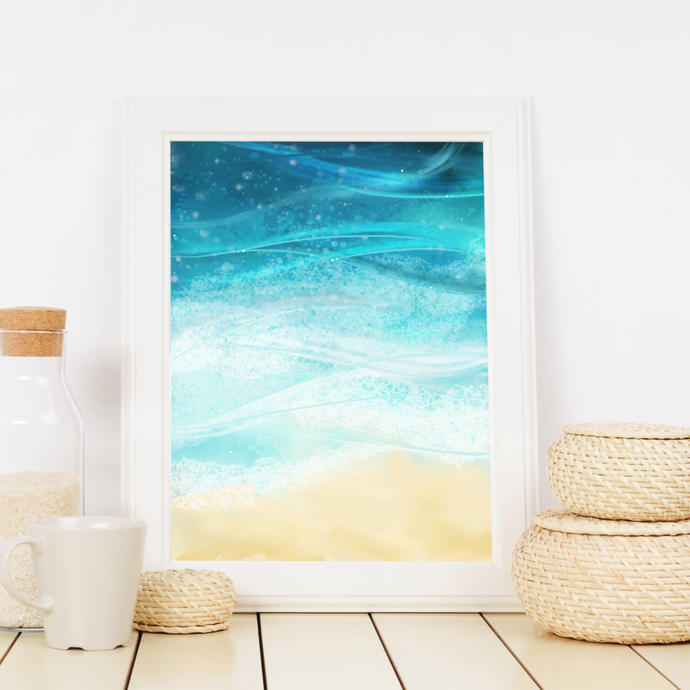 Ocean Wave Wall Art Print