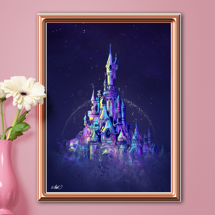 Fairytale Castle Wall Art Print