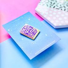Load image into Gallery viewer, The Book Was Better Purple Hard Enamel Pin