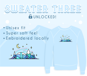 Blue Winter Skyline Sweater