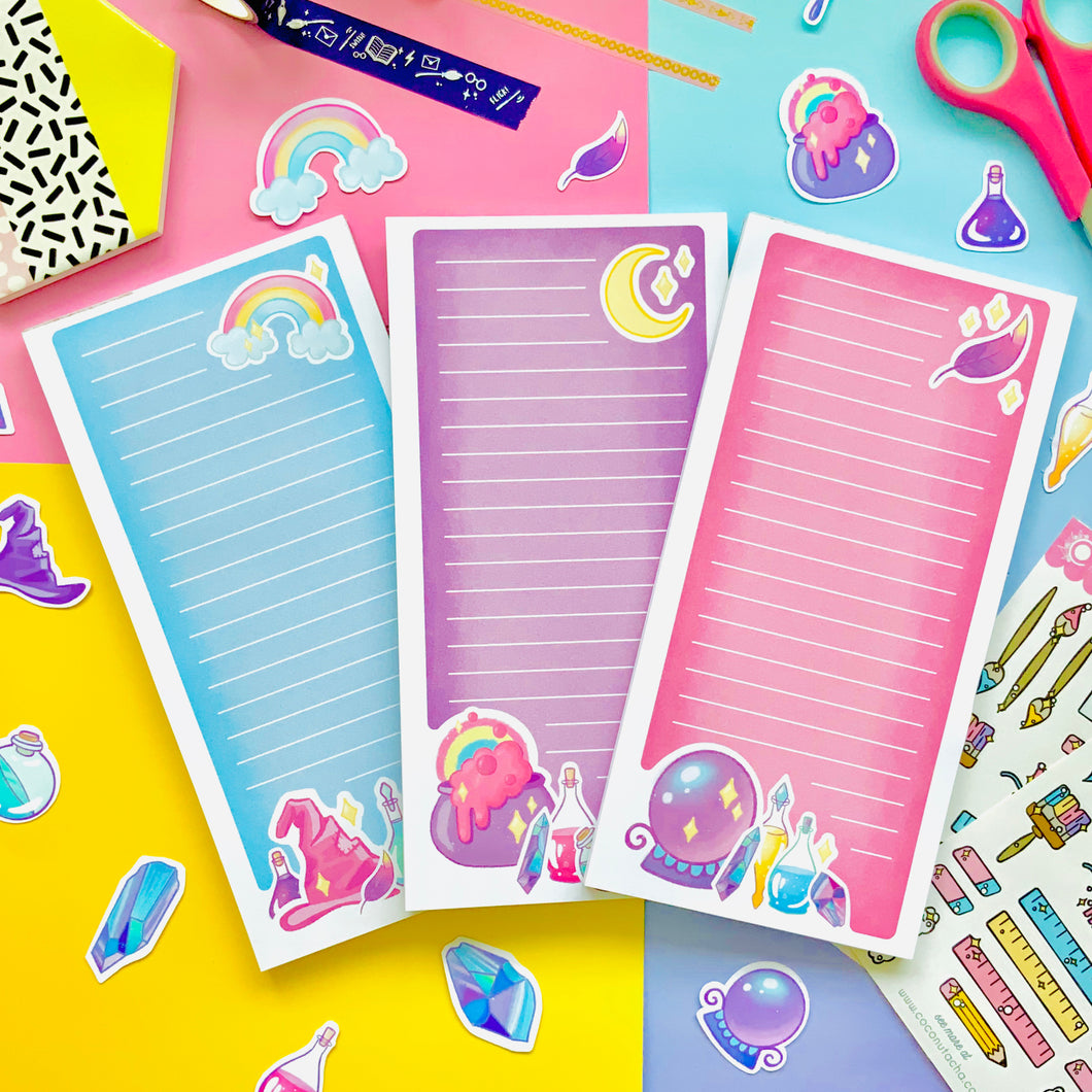 Set of 3 Magical Notepads