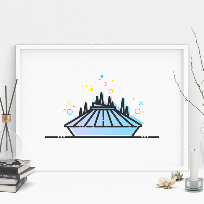 Space Ride Art Print
