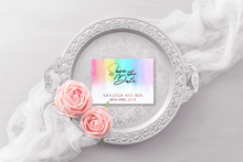 Load image into Gallery viewer, Rainbow Save the Dates