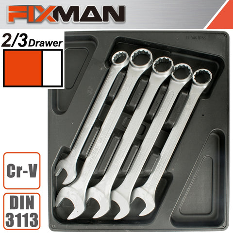 FIXMAN TRAY 5 PIECE COMBINATION SPANNERS 24-32MM