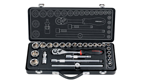 FIXMAN 26 PIECE SOCKET SET 1/2' 8 - 25 27 30 &32MM