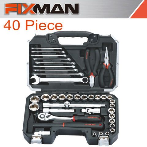 FIXMAN SOCKET TOOL SET 40PC 1/2' DRIVE