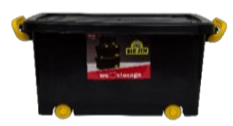 16L Roller Box (Clip-Lock) - Black Storage box with Lid