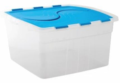 70L Hinged Box (Clear) - Storage Box with Hinged Lid