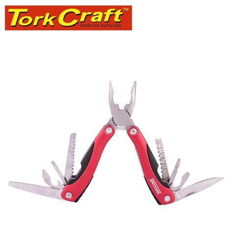 MULTITOOL RED WITH NYLON POUCH IN BLISTER